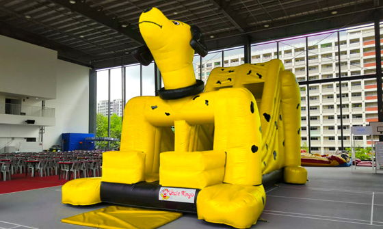 Dog Inflatable Bouncer 02 (Yellow)