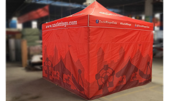 Uncle Ringo Tent (Red, With Design)